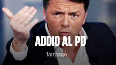 """Matteo Renzi dice addio al Pd: """"Passarò i prossimi mesi a combattere contro Salvini"""""""