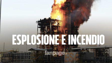 Esplosione e incendio alla raffineria Eni di Sannazzaro de' Burgondi: paura tra i residenti