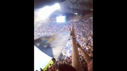 Napoli-Liverpool, i tifosi cantano 'O surdato 'nnammurato: che spettacolo al San Paolo