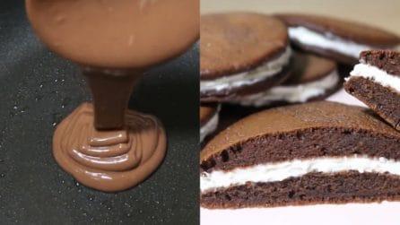 Pancakes al cioccolato senza uova: un ripieno che vi delizierà