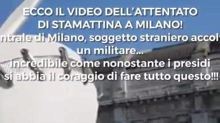 Milano, militare colpito con le forbici alla stazione Centrale: il video dell'aggressione