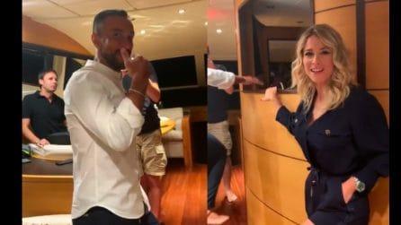"""Diletta Leotta in barca con """"capitano"""" Quagliarella: """"Sta per prendere il comando"""""""