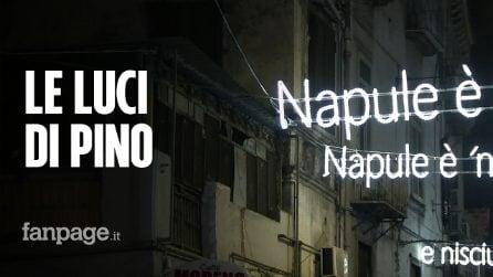 """""""Napule è"""" di Pino Daniele diventa un'installazione luminosa nel Rione Sanità: """"Pino è Napoli"""""""