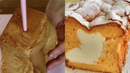 Chiffon cake con cuore di panna: ogni fetta è un'esplosione di gusto