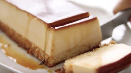 Crème caramel con base di pan di spagna: una vera delizia