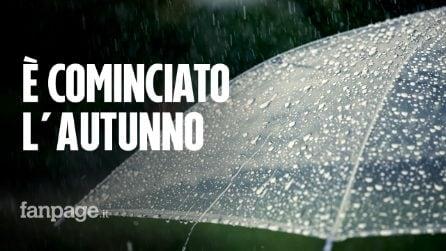 Previsioni meteo, è cominciato l'autunno: nubifragi e temporali su tutta Italia