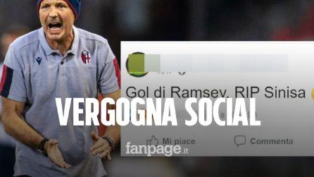 """""""Gol di Ramsey, rip Sinisa"""" ironia macabra sul tecnico: il Bologna denuncia la pagina facebook"""
