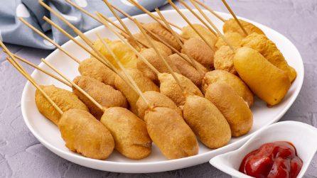 Corndogs su stecco: lo street food americano da provare almeno una volta nella vita!