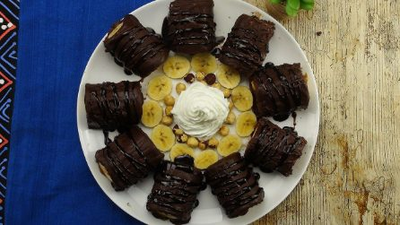 Rotolini soffici cioccolato e banana: la merenda che piacerà a grandi e piccini