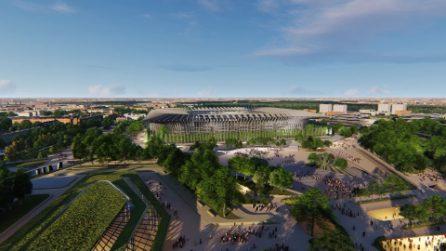 """Nuovo stadio di San Siro: il progetto di Populous è una """"cattedrale"""" ispirata a Duomo e Galleria"""