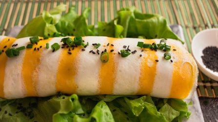 Rotolo di frittata e riso: un'idea originale da servire in tavola!