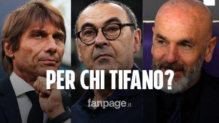 Da Pioli interista a Conte juventino: ecco per chi tifano gli allenatori di Serie A