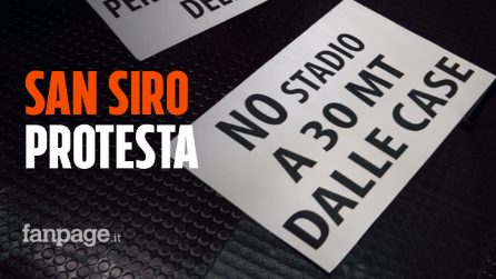 """Nuovo stadio di San Siro, i residenti in protesta: """"È come abbattere la Scala o il Duomo"""""""