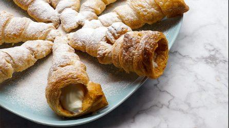 Coni di pasta sfoglia ripieni di crema: il dolcetto perfetto da servire a fine pasto!