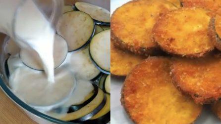Chips di melanzane impanate: un contorno sfizioso e pieno di gusto