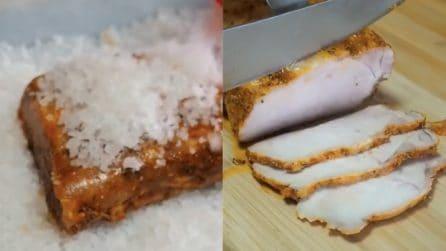 Lonza di maiale al sale: un metodo per averlo ancora più saporito