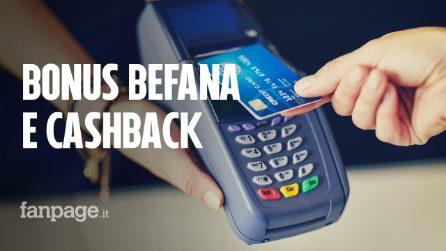 Manovra, arrivano bonus befana e cashback: fino a 475 euro di sconti se paghi con carta e bancomat