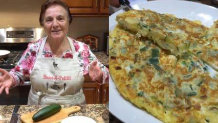 Nonna Gina prepara una straordinaria frittata di zucchine