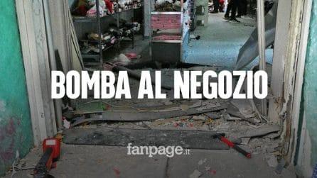 """Casoria, bomba davanti a negozio: """"Non paghiamo, se vengono troveranno le forze dell'ordine"""""""