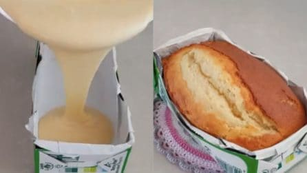 Plumcake soffice nel cartone del latte: un'idea davvero originale e golosa