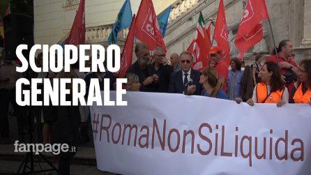 """I lavoratori di Roma Metropolitane in Campidoglio: """"Il 25 ottobre sarà sciopero generale"""""""