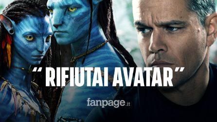 """Matt Damon svela un retroscena sulla sua carriera: """"Rifiutai Avatar, dovevo essere il protagonista"""""""