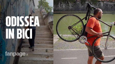 Roma, l'Odissea di una famiglia in bici: tra piste ciclabili malridotte o inesistenti