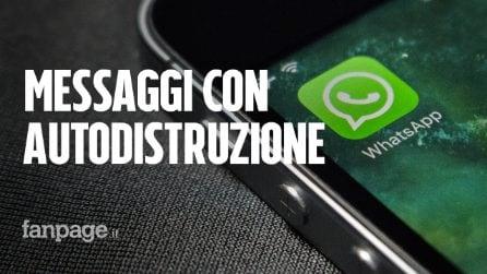 WhatsApp come Telegram: arrivano i messaggi che si autodistruggono