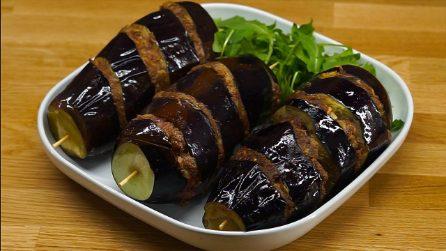 Spiedini di melanzane e carne: l'idea sfiziosa e saporita per una cena piena di gusto!