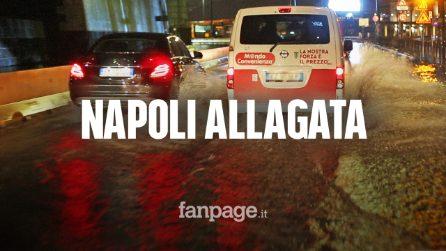 Cosa succede ogni volta che piove a Napoli: strade e stazioni della metro allagate