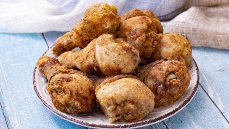 Crispy fried chicken legs: easy and quick to make with this technique