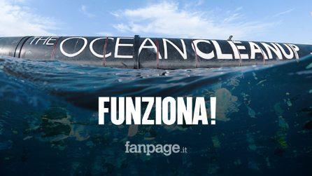 The Ocean Cleanup funziona: la macchina sta raccogliendo rifiuti e plastica dal Pacifico