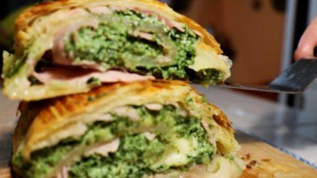 Girella con spinaci, prosciutto e ricotta: un'idea veloce e gustosa