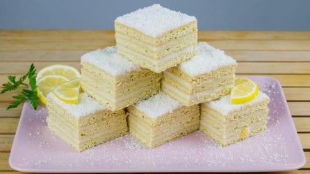 Lemon squares: rich and delicious!