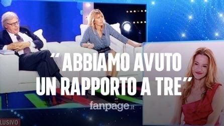 """Vittorio Sgarbi: """"Io e Eva Robin's abbiamo avuto un rapporto a tre con un attrice, che ora è morta"""""""