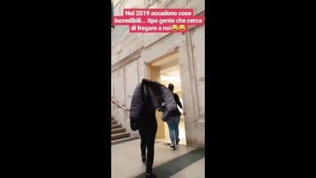 Pio e Amedeo sventano un furto in stazione, il video dell'inseguimento