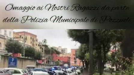 Poliziotti uccisi a Trieste, le sirene della Municipale di Pozzuoli in onore di Pierluigi Rotta