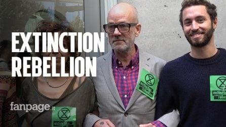 """Roma, Michael Stipe dei Rem incontra Extinction Rebellion: """"Voglio far parte di questo cambiamento"""""""