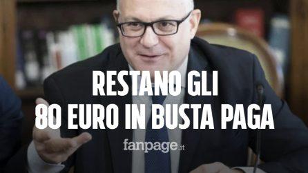 """Gli 80 euro di Renzi resteranno in busta paga, Gualtieri: """"Sentiero di crescita e stabilità"""""""