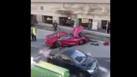 La Ferrari di Federico Marchetti distrutta da un addetto dell'autolavaggio