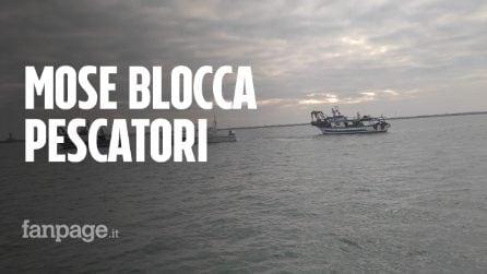 """Pescatori intrappolati dal Mose: """"Siamo rimasti 7 ore in mare aperto, così non va"""""""