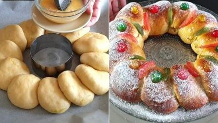 Corona dei Magi: la ricetta del soffice dessert per l'Epifania