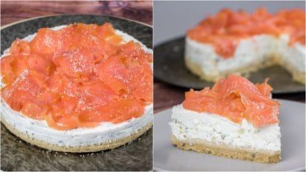 Cheesecake al salmone: la variante della torta fredda che vi stupirà!