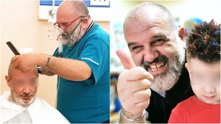 """La storia del barbiere positivo al Covid che taglia i capelli in ospedale: """"L'ho fatto con il cuore"""""""