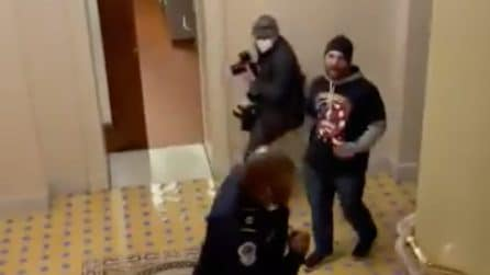 Sostenitori di Trump aggressivi con la polizia: invadono e occupano il Congresso USA