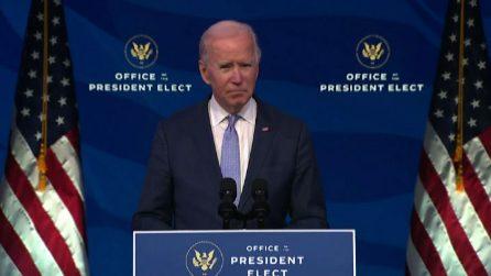 """Assalto a Congresso Usa, Biden: """"Un'insurrezione, Trump vada in tv"""""""