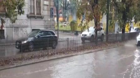 Maltempo a Milano, la città va in tilt