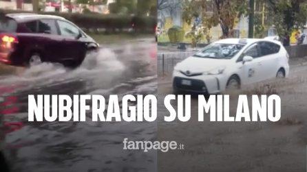 """Nubifragio su Milano, """"bomba d'acqua"""" nella notte: strade allagate e Seveso vicino all'esondazione"""