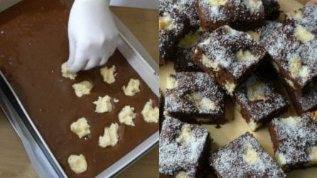 Torta variegata al cioccolato e cocco: originale e golosa