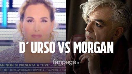 """Morgan assente a Live, Barbara D'Urso lo attacca: """"Non rispetta gli altri artisti"""""""